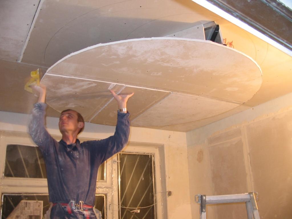 Как делать потолки своими руками фото